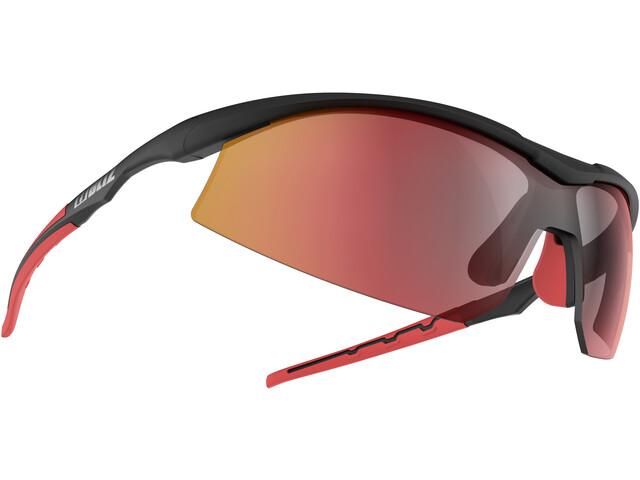 Bliz Prime M9 Glasses shiny black/smoke with red multi